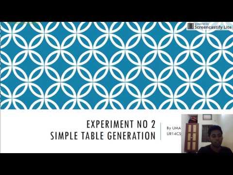 Experiment No 2 Symbol Table Generation