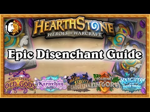 Hearthstone: Epic Card Disenchant Guide - Frozen Throne Updated