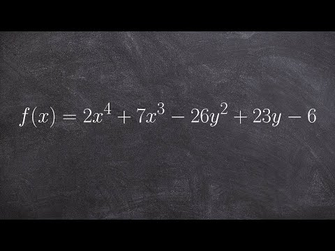 Find All the Zeros of a Polynomial To the Fourth Gegree