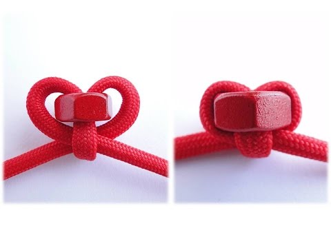 How to Make a Hex Nut Heart shaped Knot by CbyS Paracord and More