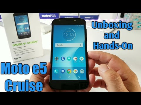 Moto e5 cruise Unboxing and Hands-On
