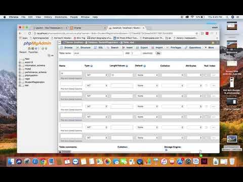 How to create database & Table using xampp PHPMYADMIN