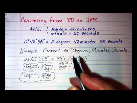 Converting from Decimal Degrees to Degrees Minutes Seconds