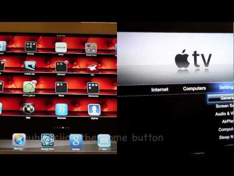 Apple TV - AirPlay Mirroring for iPad2 (Wirelessly)