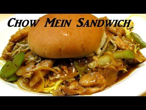 Chow Mein Sandwich!! - How to Make Chicken Chow Mein SANDWICH - Fall River Chow Mein Sandwich