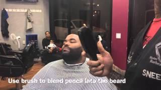 Razor bald shave / beard enhancement/ pencil enhancement tutorial / by Sneed da barber