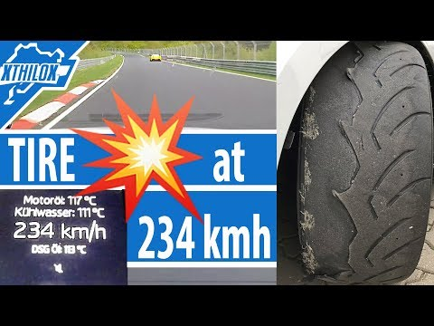 MY TIRE FELL APART AT 234 KMH on the Nürburgring Nordschleife - Leon Cupra