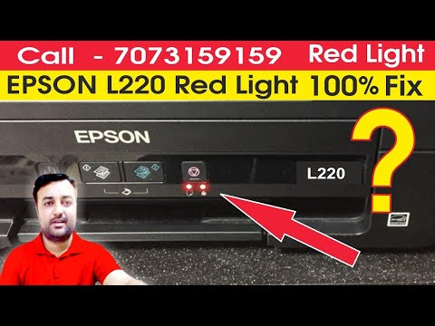 Epson L210 L380 L800 L220 L360 L1300 Service Required Solution Red Light Blinking in Hindi video