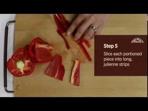 How to Julienne Bell Peppers