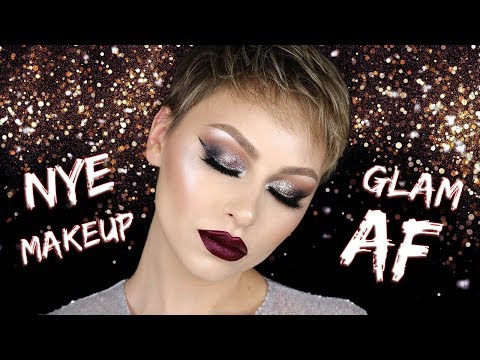 GLAM AF Glitter Eye NYE Makeup Tutorial 2017 | Alexandra Anele