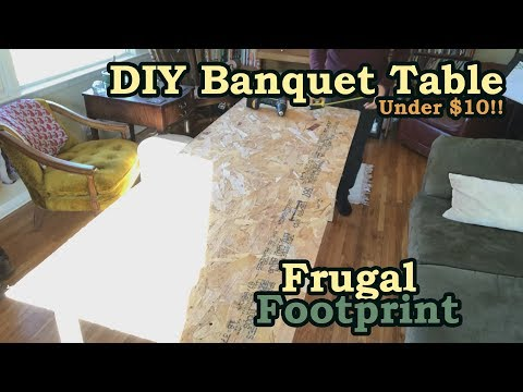 DIY Banquet Table Under $10 - Build Your Own Work Table