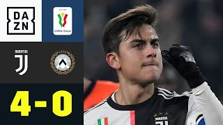 Udinese wegDYBALlert! Juve marschiert: Juventus Turin - Udinese Calcio 4:0 | Coppa Italia | DAZN