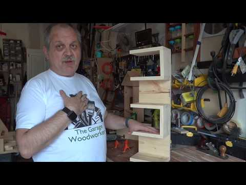 Easy to build corner shelf unit
