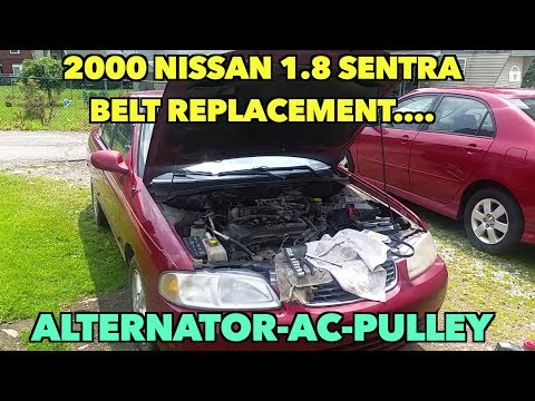 Nissan 1.8 Sentra Belt Replacement....Alternator/AC/Pulley. 2000