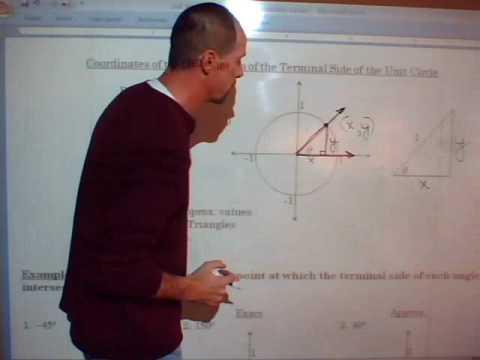 5_Unit 8 Lesson 1 Unit Circle - Find Coordinates of Points on Unit Circle (6 min).wmv