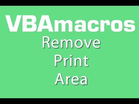 Remove Print Area - VBA Macros - Tutorial - MS Excel 2007, 2010, 2013
