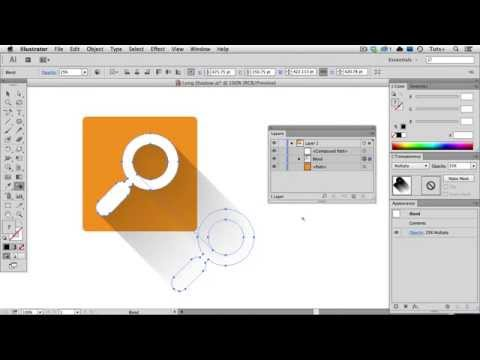 Quick Tip: Create a Long Shadow Using a Blend in Illustrator - Part 1