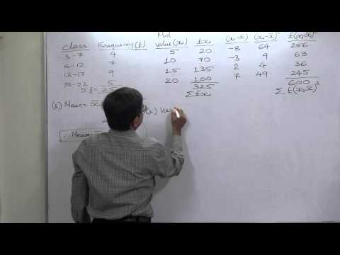 Grouped Data-Variance and SD-1 - GRE-GMAT-CAT-CMAT-MBA-PGDM-PGDBA