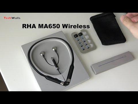 RHA MA650 Wireless In-Ear Headphones Unboxing