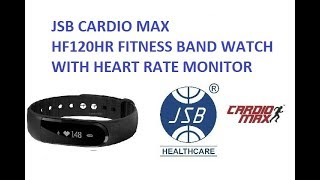 fitness band watch with heart rate monitor jsb cardio max hf120hr