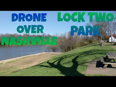 Drone Flight Over Lock Two Park Nashville, Tennessee