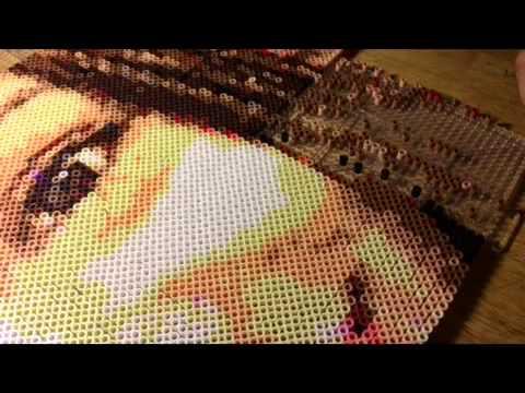 Perler Beads portrait time lapse