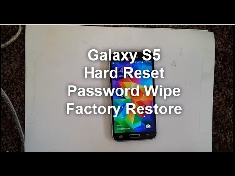 Samsung Galaxy S5: HARD RESET PASSWORD REMOVAL FACTORY RESTORE how-to