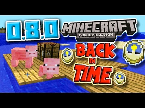 Minecraft PE BACK IN TIME SURVIVAL! 0.8.0 Let's Play!