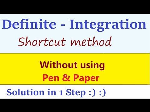 Definite Integration Shortcuts and Tricks : Integral Calculus