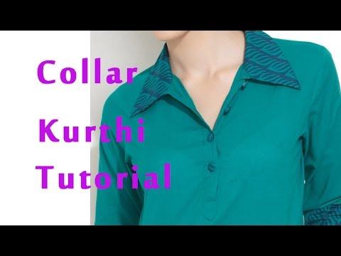 How to stitch band collar, How to sew band collar kurti, shirt collar kurti
