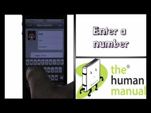 Adding a new contact | Apple iPhone 4 | The Human Manual