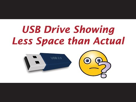 USB drive capacity suddenly reduced - Fixed
