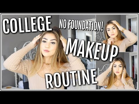 MY COLLEGE MAKEUP ROUTINE! ♡ No Foundation Everyday Look! ♡