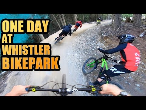 THE BEST MTB TRAILS EVER - ONE DAY AT WHISTLER BIKE PARK