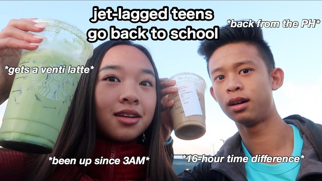 jet lagged teens go back to school... | Nicole Laeno