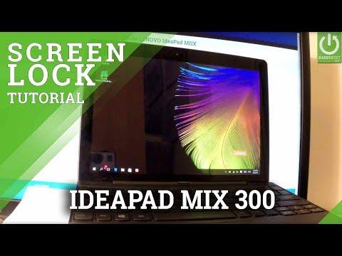 How to Set Password in LENOVO IdeaPad MIIX 300 - Screen Lock