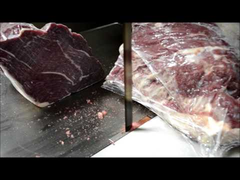 Butcher Boy Meat Bandsaw Frozen Beef Demo 323 268 8514