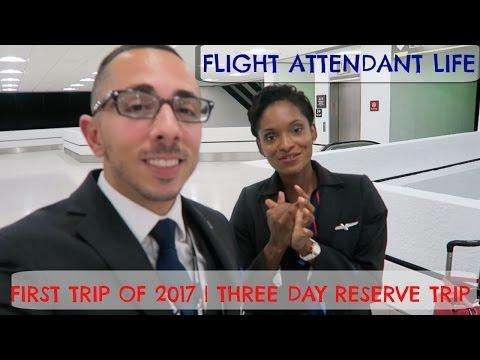 FIRST TRIP OF 2017 | THREE DAY RESERVE TRIP | FLIGHT ATTENDANT LIFE | ARUBA LAYOVER
