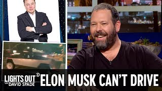 Elon Musk Can't Drive a Cybertruck (feat. Bert Kreischer) - Lights Out with David Spade