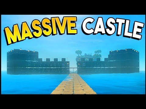 BUILDING A MASSIVE CASTLE! Huge Update To Raft Is Awesome! - Raft Gameplay