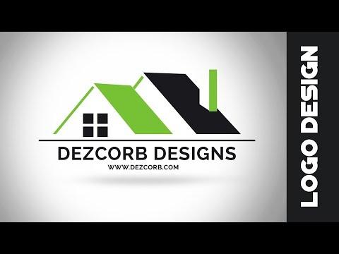 How to design a logo in photoshop cs6 |  Logo Design Tutorial | Real Estate Logo Design
