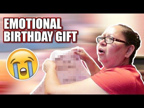 EMOTIONAL BIRTHDAY GIFT! SHE CRIED!