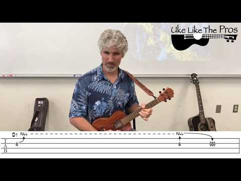 I Want To Hold Your Hand Beatles Ukulele Lesson Intro (Guitar Part 1)