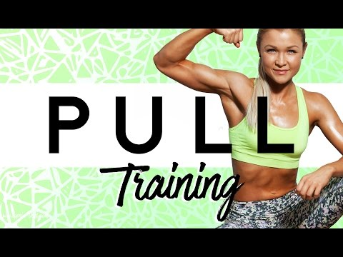 PULL LIVE HOMEWORKOUT! Get toned Back MUSCLES at HOME