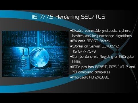 IIS 7 7.5 8 Hardening SSL TLS - Windows Server 2008 R2 2012 R2 DISABLE SSL V2/3 POODLE BEAST