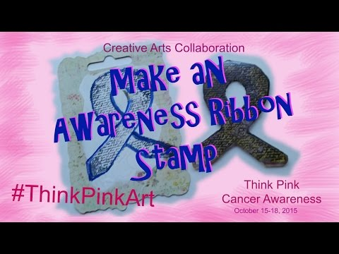 #ThinkPinkArt - Make an Awareness Ribbon Stamp