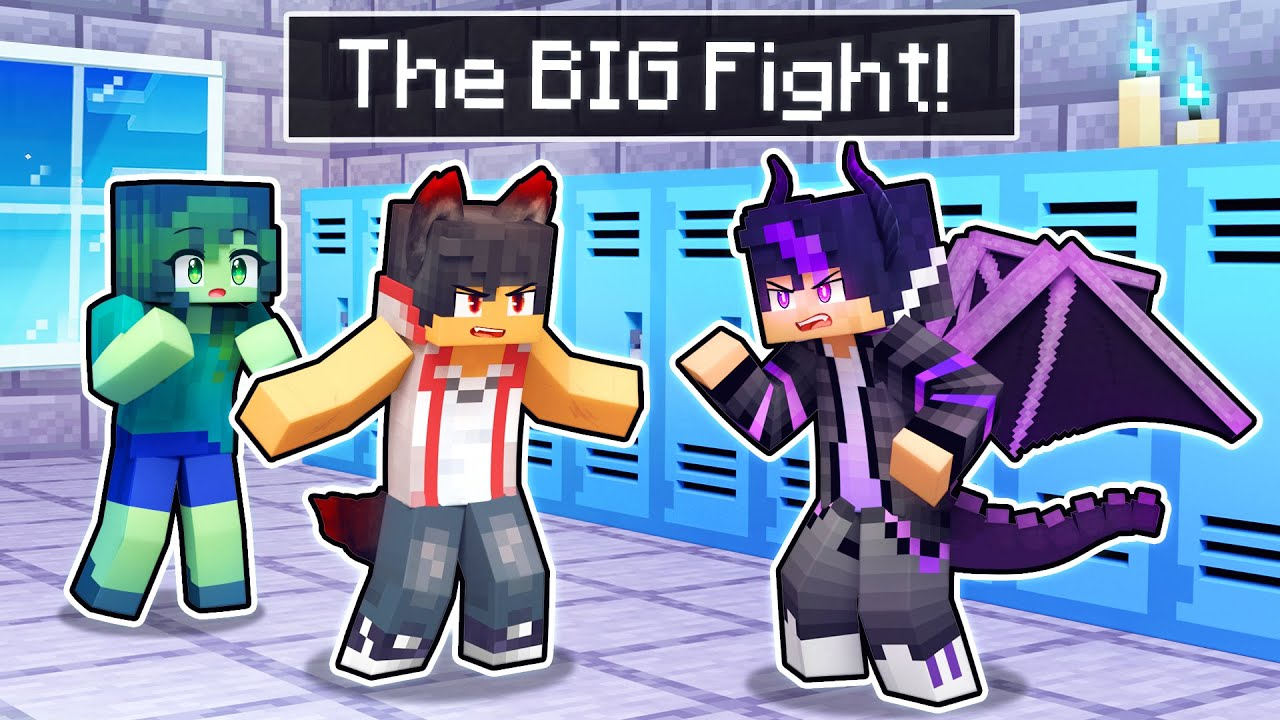 The BIG FIGHT At Monster HIGH SCHOOL In Minecraft!