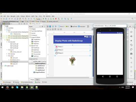 Android Tutorial - Change Photo in ImageView with RadioGroup