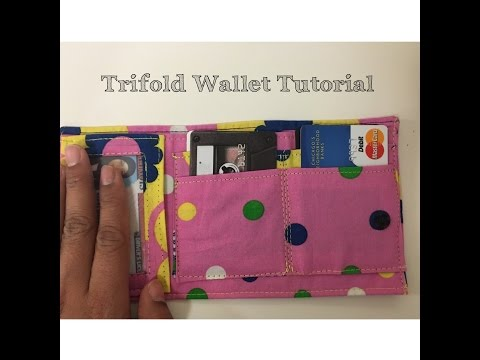 DIY: Trifold Wallet Tutorial
