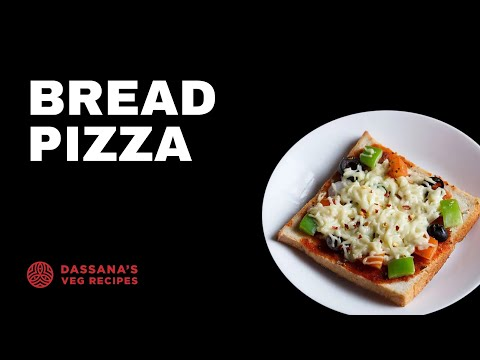 bread pizza on tawa or pan recipe, bread pizza without oven, quick bread pizza snack